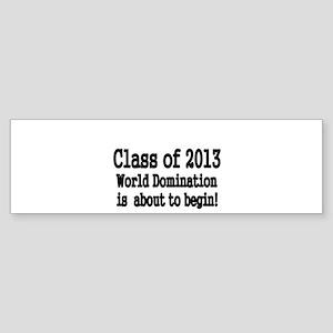 Class of 2013 Bumper Sticker