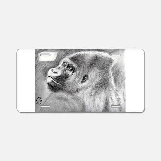 The look of a Gorilla Aluminum License Plate