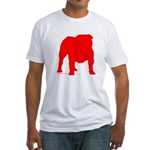 Red Bulldog Silhoutte Fitted T-Shirt