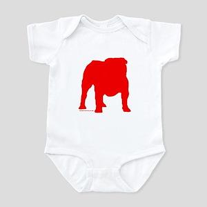 Red Bulldog Silhoutte Infant Bodysuit