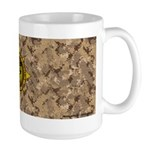 HFPACK Gold CompassInsignia Desert Camo Mug Large