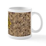 HFPACK Gold Compass Insignia Desert Camo Mug