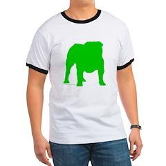 Green Bulldog Silhoutte T