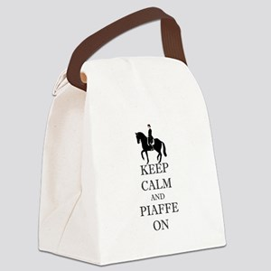 Keep Calm and Piaffe On Dressage Horse Canvas Lunc