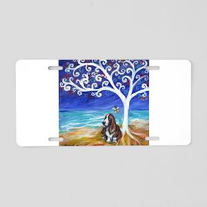 Basset Hound Spiritual Tree Aluminum License Plate
