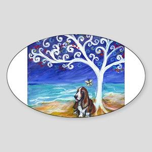 Basset Hound Spiritual Tree Sticker