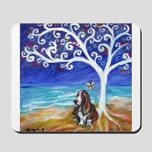 Basset Hound Spiritual Tree Mousepad