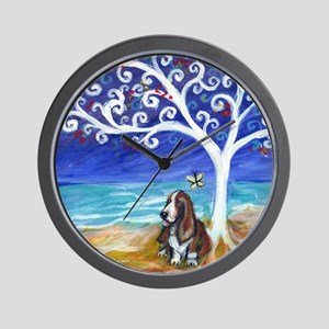 Basset Hound Spiritual Tree Wall Clock