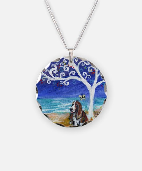 Basset Hound Spiritual Tree Necklace