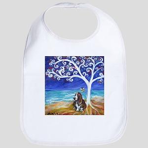Basset Hound Spiritual Tree Bib