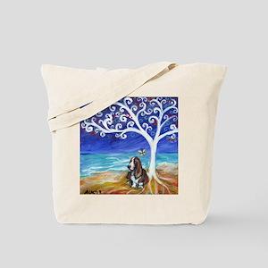 Basset Hound Spiritual Tree Tote Bag