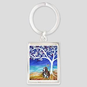 Basset Hound Spiritual Tree Keychains