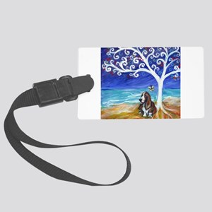 Basset Hound Spiritual Tree Luggage Tag