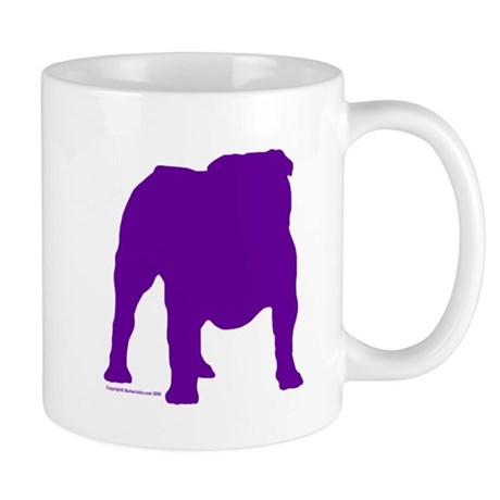 Purple Bulldog Silhoutte Mug