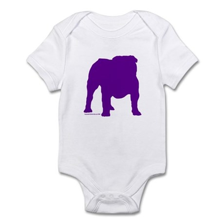 Purple Bulldog Silhoutte Infant Bodysuit
