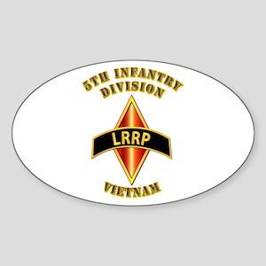 SOF - 5th ID - LRRP - Vietman Sticker (Oval)