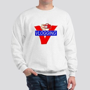 V for Vlogging with Camera Sweatshirt