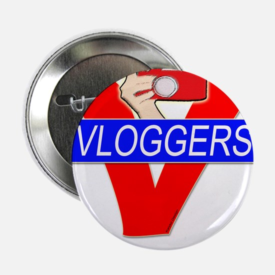 """V for Vloggers with Camera 2.25"""" Button"""