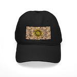 HFPACK Gold Compass Insignia Desert Camo Black Hat