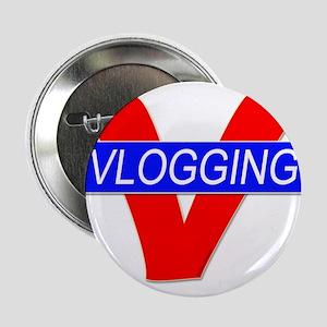 """V for Vlogging 2.25"""" Button"""