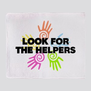 Look For The Helpers Throw Blanket