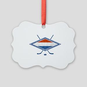 Nederlandse Ijshockey Flag Ornament