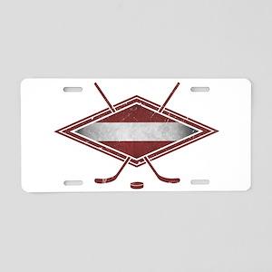 Latvijas Hokejs Flag Aluminum License Plate