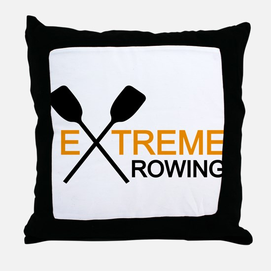 extreme rowing Throw Pillow