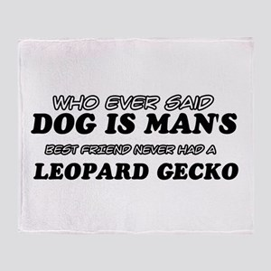 Leopard Gecko pet designs Throw Blanket