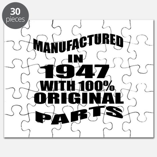 Manufactured in 1947 Puzzle