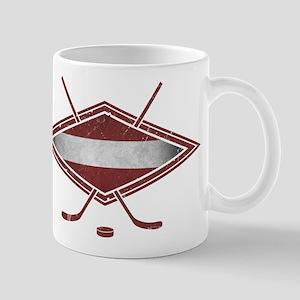 Latvijas Hokejs Flag Mug