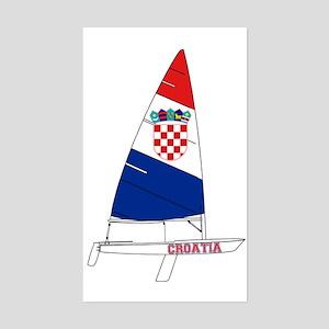 Croatia Dinghy Sailing Sticker (Rectangle)