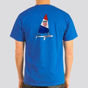 Croatia Dinghy Sailing Dark T-Shirt