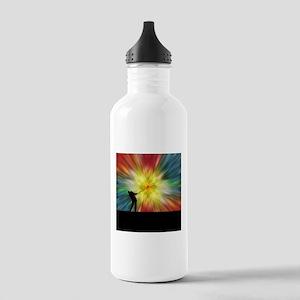 Tie Dye Silhouette Golfer Water Bottle