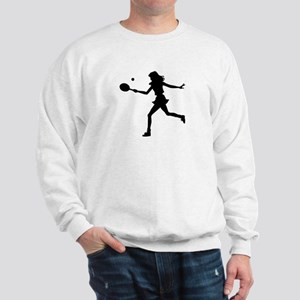 Girls Tennis Silhouette Sweatshirt