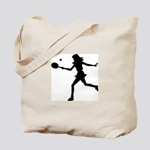 S Tennis Silhouette Tote Bag
