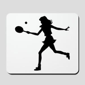 Girls Tennis Silhouette Mousepad