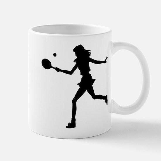 Girls Tennis Silhouette Mug