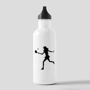 Girls Tennis Silhouette Stainless Water Bottle 1.0