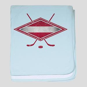 Latvijas Hokejs Flag baby blanket