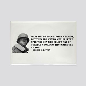 George Patton on Spirit Rectangle Magnet