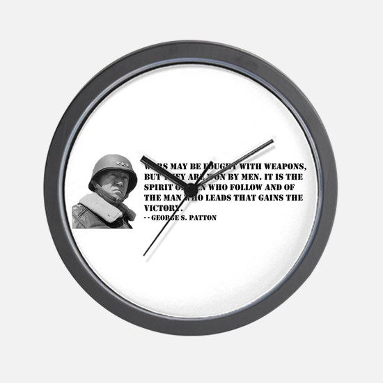George Patton on Spirit Wall Clock