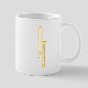 """Woodcut """"Brass"""" Trombone Mug"""