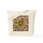 HFPACK Gold Compass Insignia Desert Camo Tote Bag