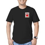 Brockie Men's Fitted T-Shirt (dark)