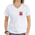 Brockie Women's V-Neck T-Shirt