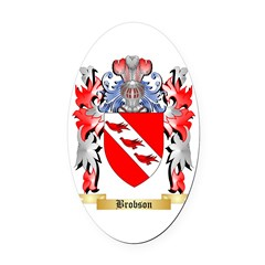 Brobson Oval Car Magnet