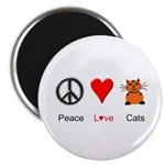 "Peace Love Cats 2.25"" Magnet (10 pack)"
