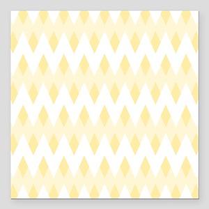 "Light Tan Color Pattern. Square Car Magnet 3"" x 3"""