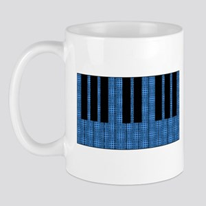 Blue Optical Illusion Piano Mug